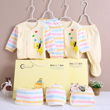7pcs Spring Autumn New Baby Clothes Set Girl Cotton Cartoon Newborn Infant Boy 0-3 Months Gift Box