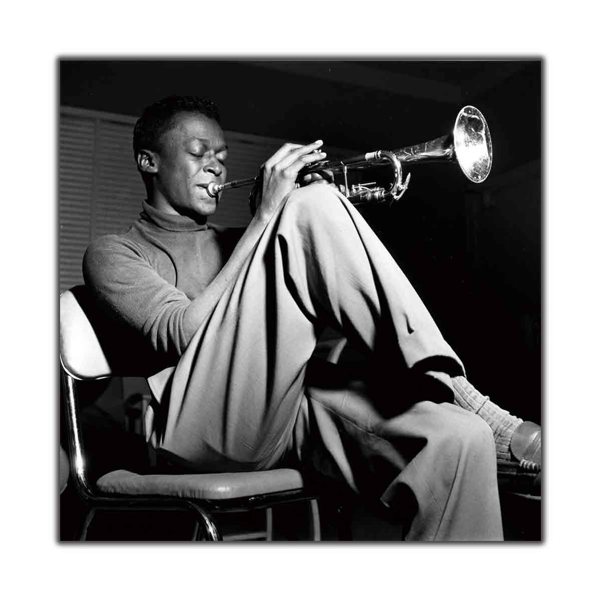 Miles Davis Kind Of Blue Jazz Music Classic Album Art Poster Print Wall decoration decor canvas room decor12x12 24x24 20x20in image