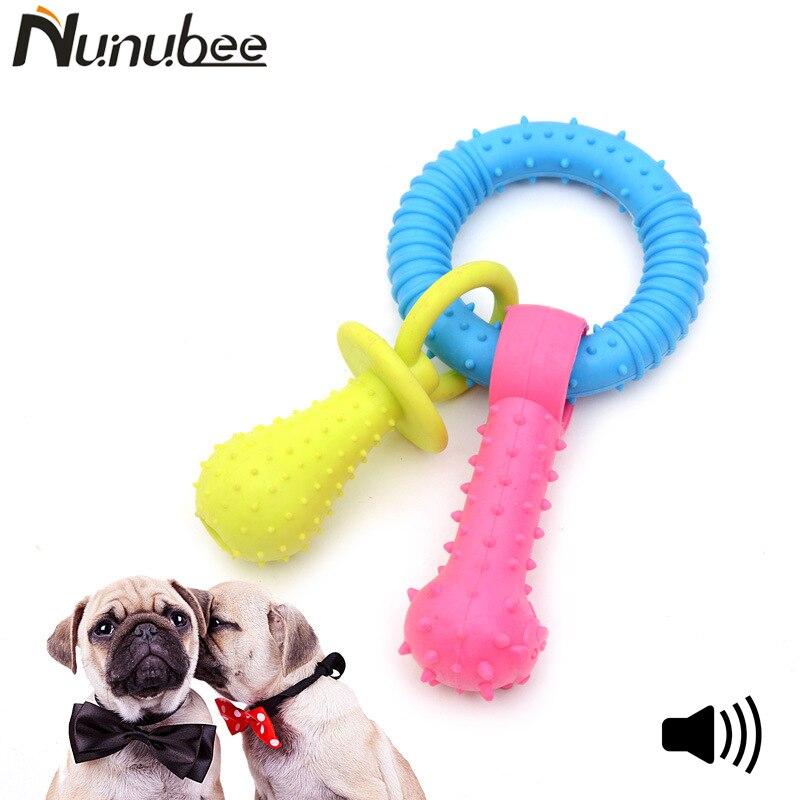 Nunubee Многофункциональный резиновая игрушка собака squeakers Pet Sound собака игрушки писк жевать TPR колокольчиками Соски собака игрушки 23.5 см