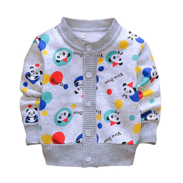ddb40351b72c Baby coat Autumn Newborn knit cardigan jacket baby boy girl cartoon ...