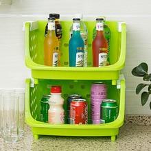 Kitchen Storage Holders & Racks Vegetable Fruits Environmental Protection Cleaning Supplies 36*28*22CM Leakage Storage Shelf