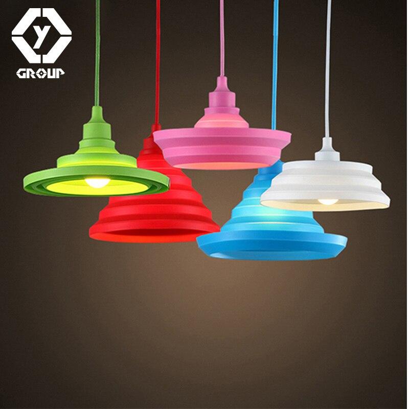 OYGROUP Led plafonniers pour le salon E27 lampes De plafond en Silicone décor à la maison éclairage lampara De Techo # OY17P39