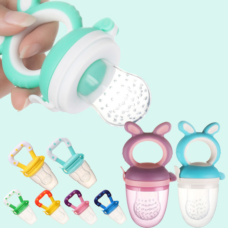 Baby Nipple Fresh Food Nibbler Baby Pacifiers Feeder Kids Fruit Feeding Nipple Safe Supplies Nipple Teat Pacifier Bottles(China)