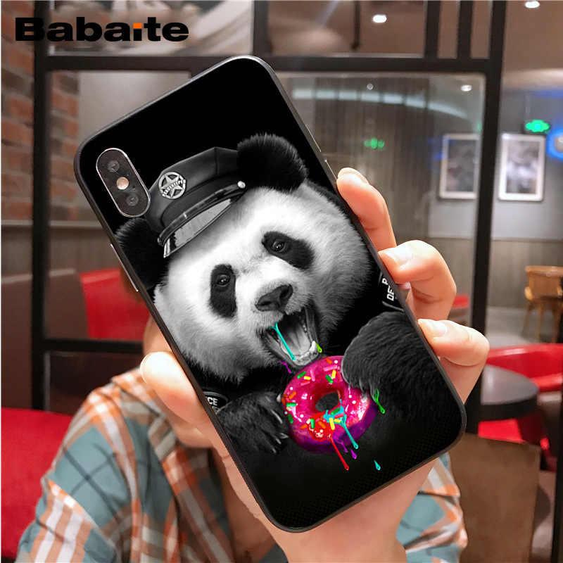 Leuke mooie teddy panda Luxe Unieke Ontwerp Telefoon case Cover voor iphone X XS MAX 8 7plus 5S SE 6s XR Cover Babaite