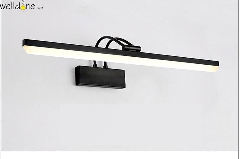 Moderna lâmpada espelho LEVOU preto vaidade do banheiro fixado na parede de luz 58 cm comprimento antinebuloso impermeável frete grátis - 5