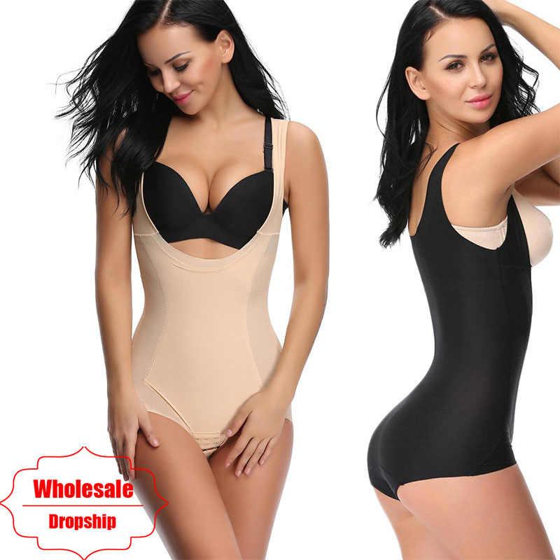 cf62cc3e242 NINGMI Wedding Women Body Shaper Seamless Pulling Underwear Slimming Waist  Trainer Briefter Tummy Firm Control Strap