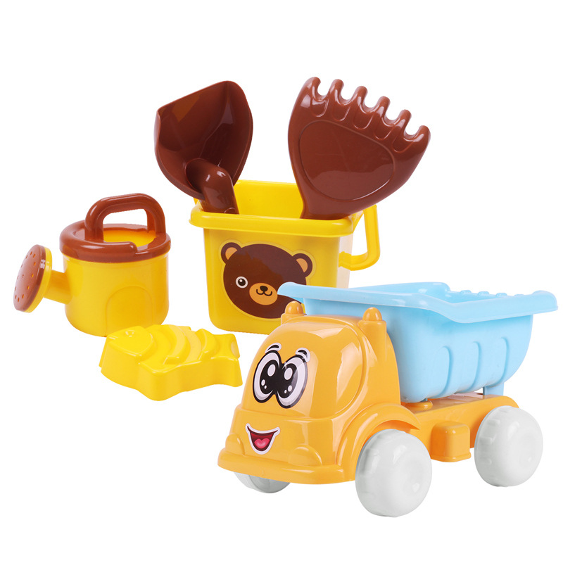 SLPF Hot Sale Children Sand Juegos Beach Toys Set Mini Cartoon Bear Beach Bucket Outdoor Play Water Toys Juguetes Playa New G02
