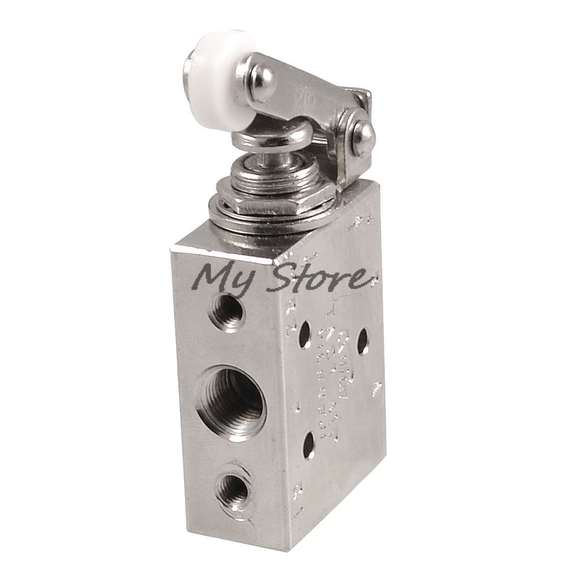 Silver Tone Alloy  2 Position 5 Way Roller Lever Mechanical Valve  Pneumatic valve switch TAC2-41P pneumatic 3 position 4 way spring return lever manual air valve tac2 41p