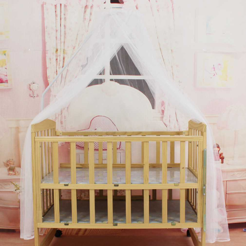 Portable baby bedding crib mosquito net round toddler baby for Baby crib net