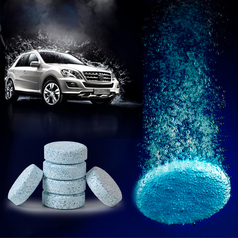 DWCX 6PCS Windshield Glass Washer Cleaner Compact Effervescent Tablets Detergent for Audi BMW Volkswagen Honda Toyota Mazda Kia