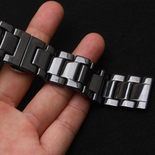 14MM 16MM 18MM 20MM 22MM Black Ceramic Watchbands Fashion style Watch strap bracelet fit smart watch gear s3 22mm classic belts