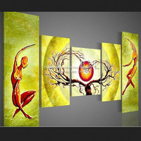 Real Crochet Needlework Abstract Diy Diamond painting Cross stitch Square Full Decorative 5sets Embroidery People And Tree