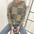 2016 осенью новый мужской свитер свитер пальто воротник шить голову набор Корейский студенческие пары