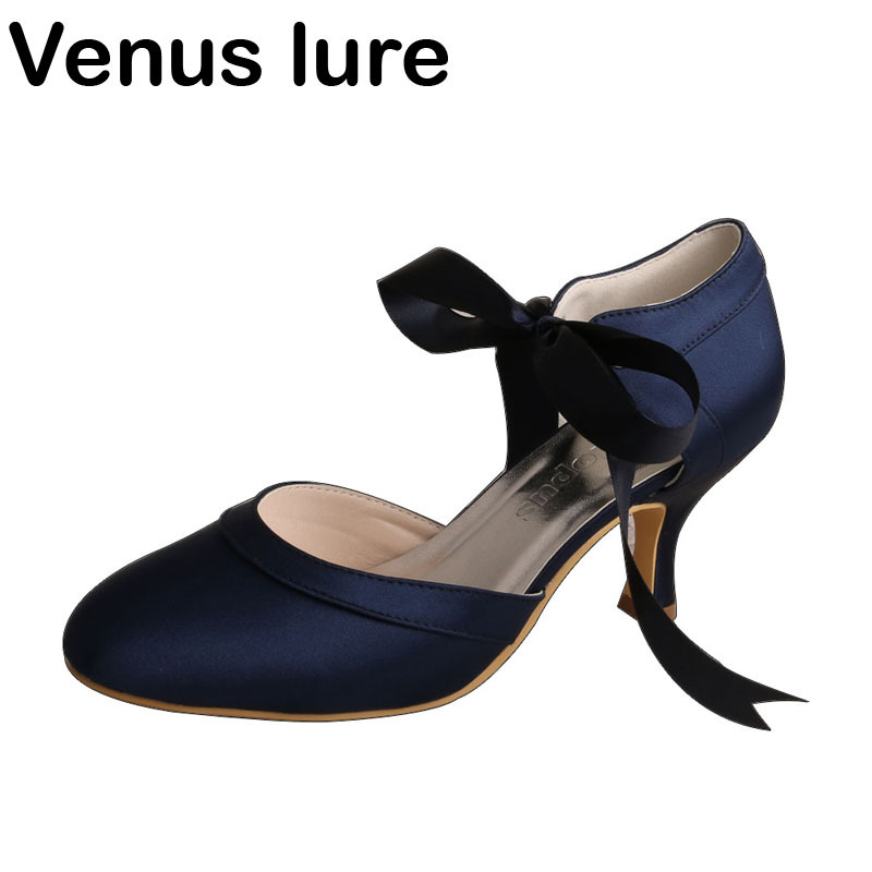 Venus lure Women Navy Blue Closed Toe