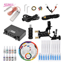 Tattoo Machine Set Machine Professional Liner Shader Tattoo Set Complete Kit Pro Rotary Machine Shader Liner Gun And Motor Pen professional 2 gun tattoo machine complete kit set with carrying case