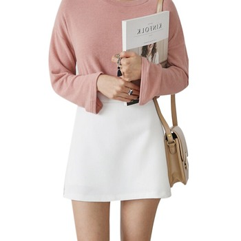 Fashion High Waist Zip Skirt Women's Shorts Summer Split Skirt Shorts zip front check plaid shorts