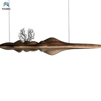 Nordic ilha em forma de madeira maciça conduziu a luz pingente para mesa de jantar gu10 luz do ponto lâmpada pendurada lustre led lâmpada suspensão