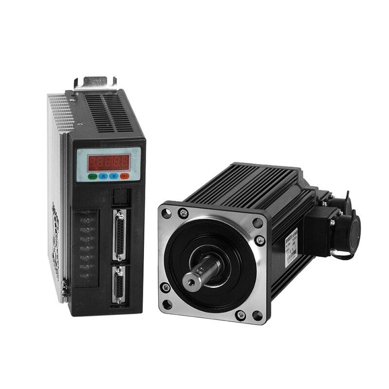 все цены на AC servo motor driver system 45oz.in 40ST-M00330 single phase ac motor 0.32N.m 3000rpm servo motor with brake 0.9A