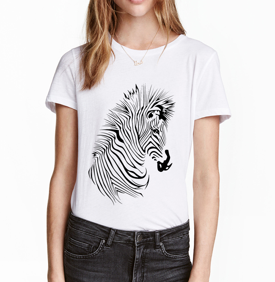 Design your own t-shirt for dogs - 2017 New Summer Zebra Personalized T Shirt Harajuku Tees Eagles Owl Printed Punk Women Tops