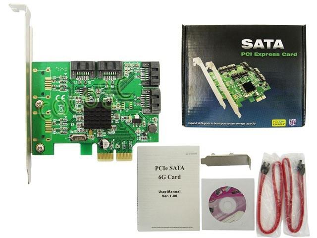 Marvell Chipset 4 Ports SATA 6Gbps PCI-Express Controller Card PCI-e - Համակարգչային բաղադրիչներ - Լուսանկար 5