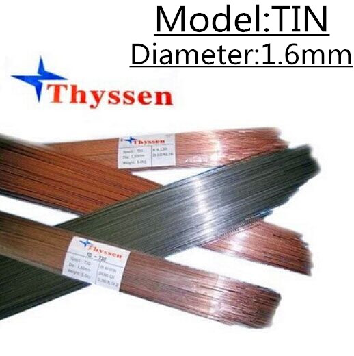 1KG/Pack Thyssen TIN of 1.6mm TIG Welding Wire for Welders High Quality Welding Wires F010 1kg pack thyssen 738 tig welding wires