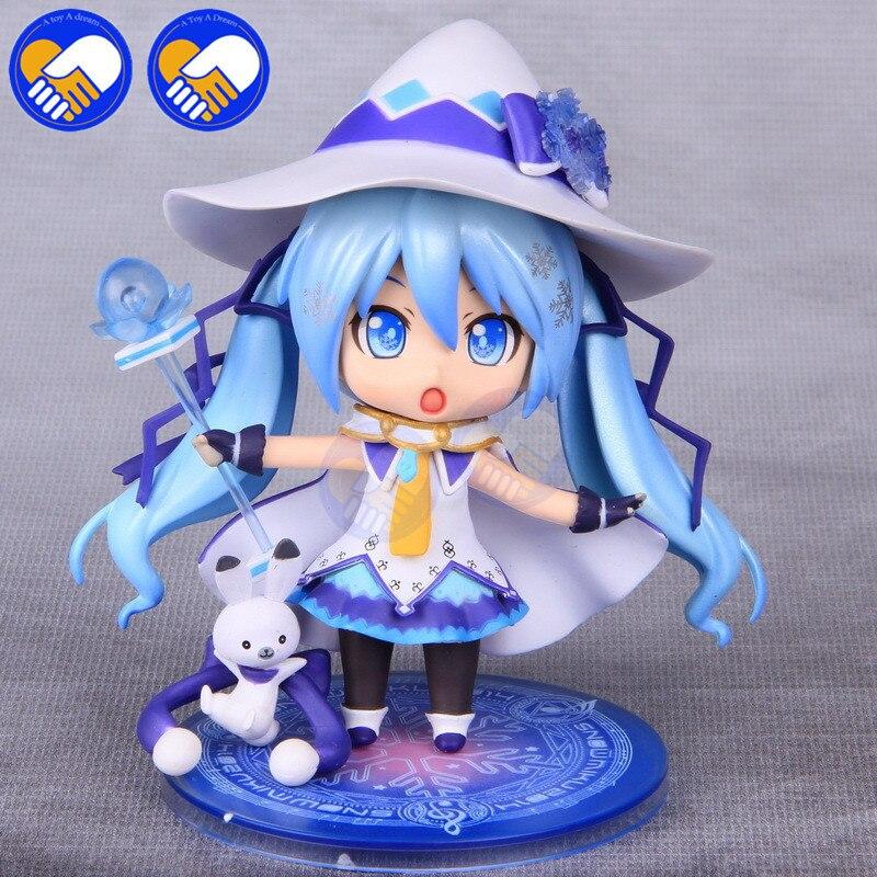 Nuevo 10 cm Cute Nendoroid Vocaloid Hatsune Miku figura de acción modelo colección mágica nieve Ver Hatsune Miku Q versión muñeca Juguetes