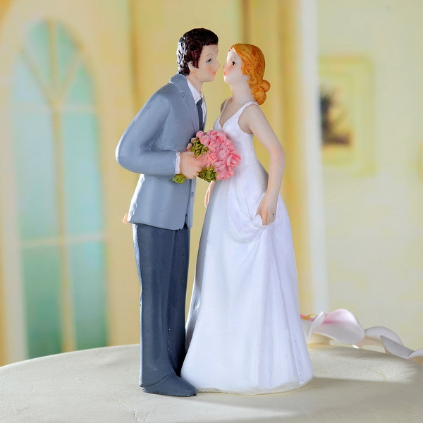 New Bride and Groom dancing kissing Proposing Funny Figurine Wedding Cake Topper Personalised Event Party Supplies Marriage