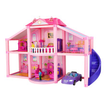 Diy Doll House Kit Accessories Miniature Dollhouse Furniture Miniatures Mini Room Doll Car Dog Girl Toys Coffe Table Toddler Toy barbie doll barbie shiny holiday home playset furniture miniatures dollhouse kit glam getaway house fully furnised baby girl toy