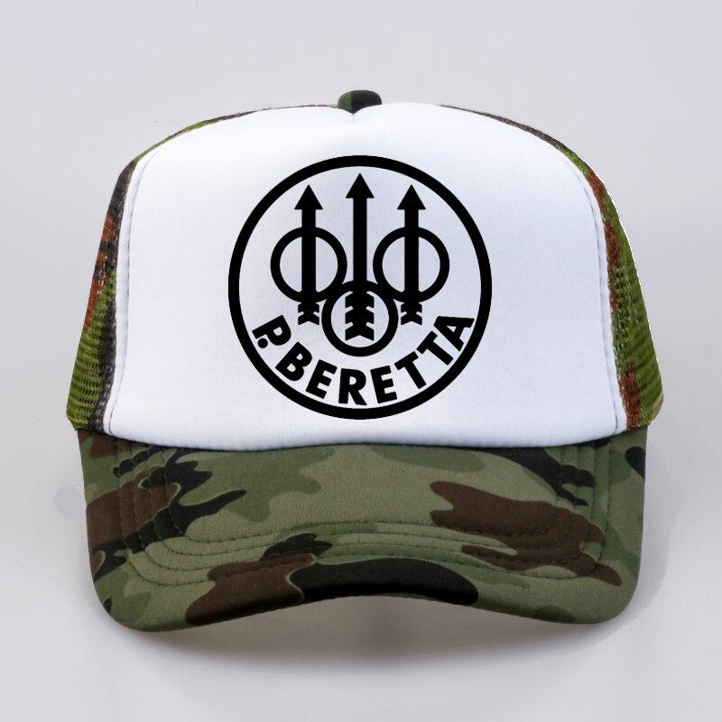 Military fan Beretta Gun Logo cap Summer Fashion Baseball Caps Fashion Men Women mesh trucker hat бейсболк мужские