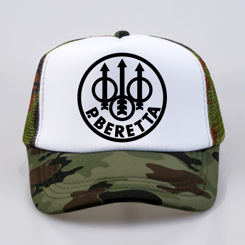 Military fan Beretta Gun Logo   cap   Summer Fashion   Baseball     Caps   Fashion Men Women mesh trucker hat