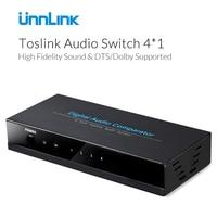 Unnlink 4 1 Spdif Toslink Digital Optical Audio Splitter Fiber Switch Switcher Remote Control 4in 1