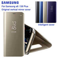 For SAMSUNG Original Mirro Cover Clear View Phone Case EF-ZG955 For Samsung Galaxy S8 G9500 S8+ S8 Plus SM-G955 Rouse Slim Flip