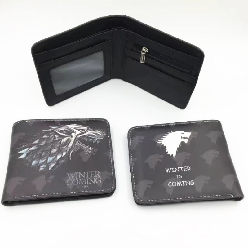 Ancient Costume Movies GAME OF THRONES Wallets Anime Wolf Wallets For Boys Girls Money Bag Cartoon Purse Card Holder bag W476