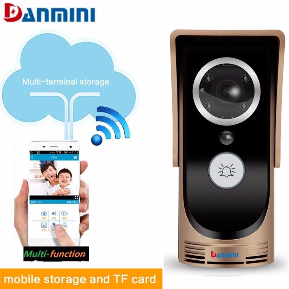 Danmini 720P HD Smart Wireless Doorbell WiFi Video Doorbell Peephole Viewer IR Night Version Camera Door Phone Visual Intercom цена