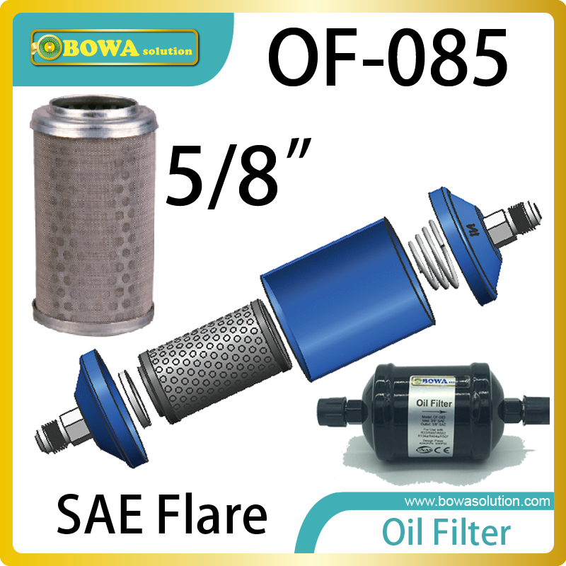 OF085 Oil filter must be installed in accordance with the flow direction arrow & located between the oil separator and reservoir