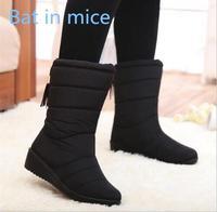 Bat In Mice 2017 Women S Boots Waterproof Snow Boots Tassel Mid Calfskin Women S Warm