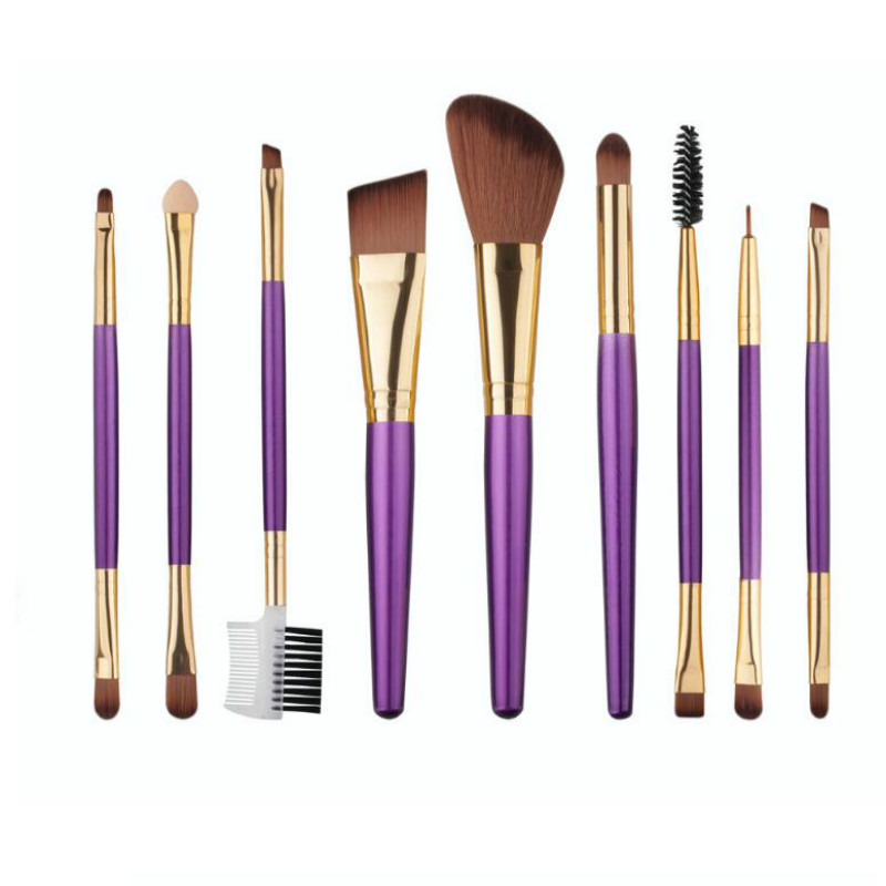 9 pcs Makeup brushes Make up Beauty 2016 cosmetics Foundation Powder Eyeshadow Eyebrow Brush professional Toiletry Kit