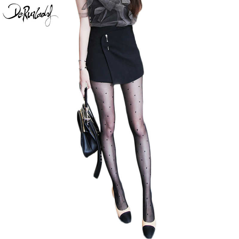 4afe68177 ... DeRuiLaDy Love Heart Sexy Transparent Pantyhose Black Stockings Fashion  Women s Tights Women Sexy Tattoo Tights Hosiery ...