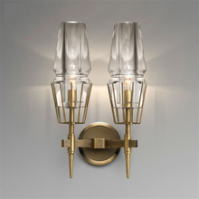 Nordic LED Wall Lamps Loft France Designer Light Concise K9 Crystal Living Room Hotel Hall Romantic Sconce Avize