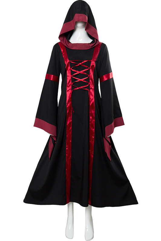 Renaissance Costume Adult Women Medieval Dresses Victorian Dress Vintage Long Sleeve Renaissance Dress Halloween Clothing