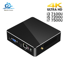HLY Cheapest Mini PC Intel Core i3 7100U i5 7200U i7 7500U Mini Computer 4K HD Display DDR3 RAM Windows 10 WIFI HDMI 6*USB