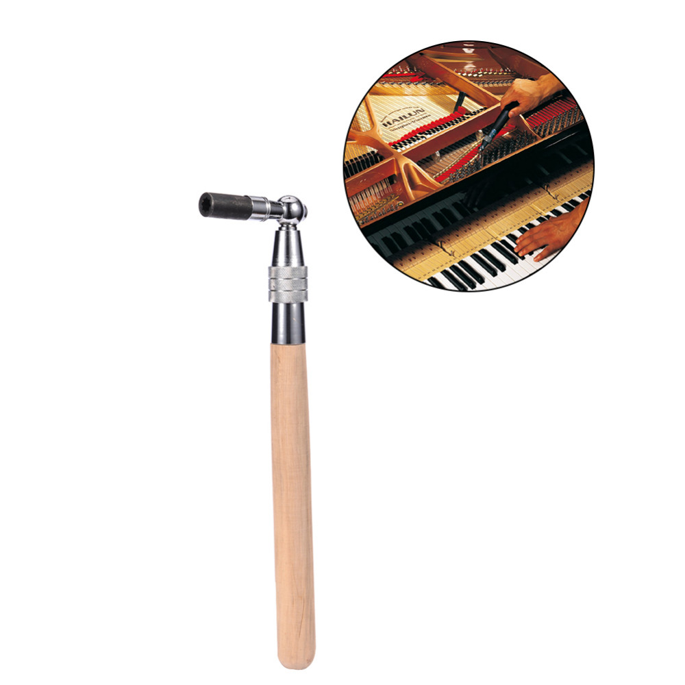 Piano Accessories Piano Part Tuning Hammer Tuner Tool Use Stainless Steel + Hardwood Support Wholesale With Discount professional 13 in 1 piano tuning maintenance tuning tool kit with portable pu leather case easy operate