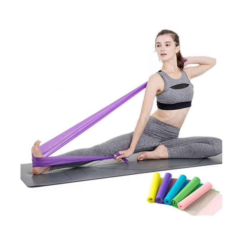 TPE Yoga Resistance Bands Gym Fitness Equipment Strength Training Elastic Yoga Rubber Pull bands Sport Pilates Workout
