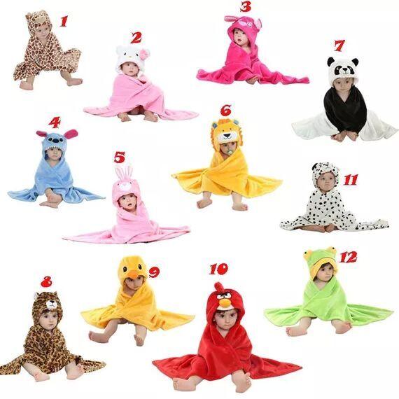 2016 animals baby clothing Bathrobe Hoodie Hoody Costume Bath Hooded Towel Baby Robe Kids Robes Infant