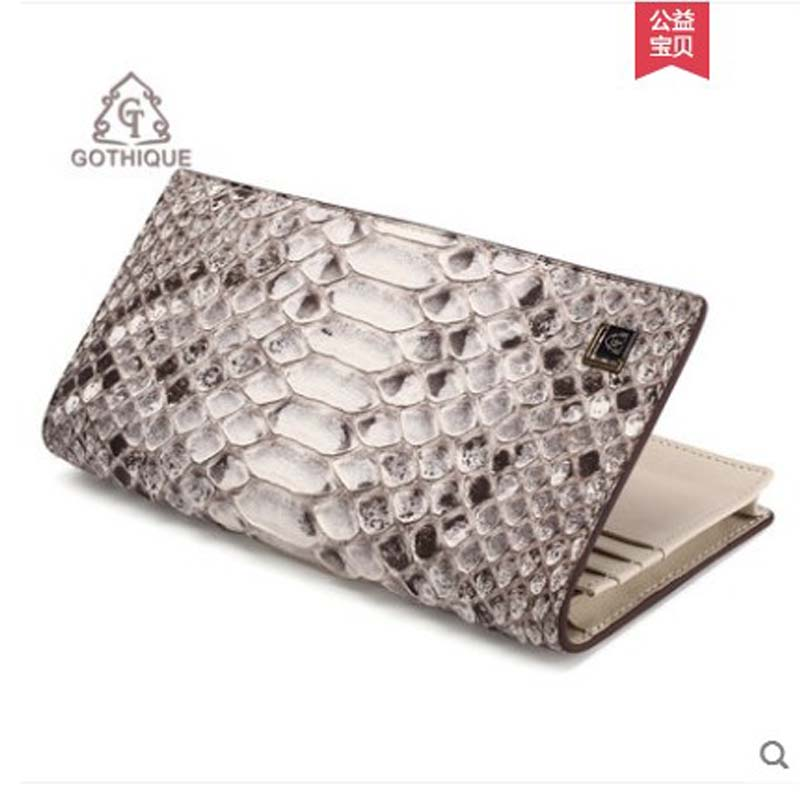 gete 2019 new Import python skin wallet for ladies long style thin style multi-card European and American fashion purse women's