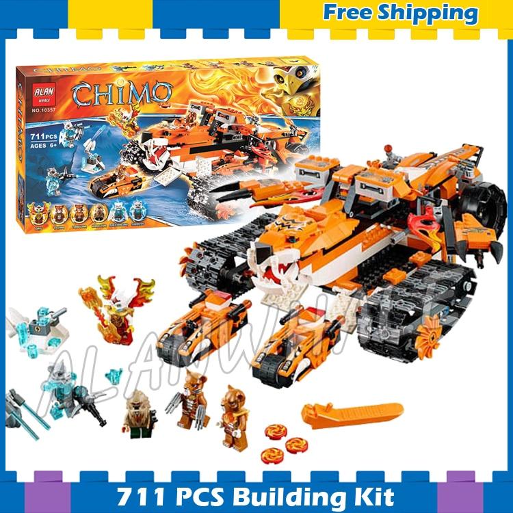 711 pièces Tiger's Mobile commande incroyable tigre glace réservoir 10357 modèle blocs de construction enfants garçons cadeaux ensembles compatibles avec Lego