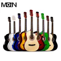 38 Acoustic Guitar Folk 6 String Guitar for Beginners Guitar Students Gift High Quality