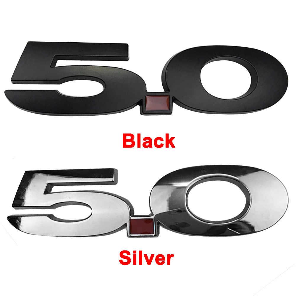 Hoge Kwaliteit Galvaniseren Auto 5.0 Ontlading Label Zijdig Badge Decoratie Voor Mustang