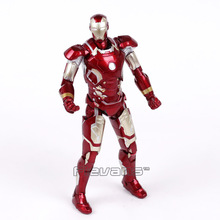 Iron Man Mark XLIII MK 43 PVC Action Figure Collectible Model Toy with LED Light 7inch 18cm