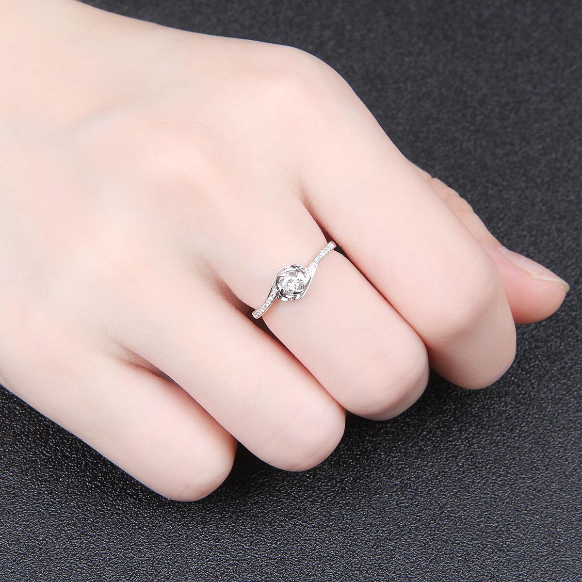 18K Gold Wedding Dress Diamond Ring Platinum Gold Diamond Ring ...